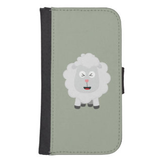 Cute Sheep kawaii Zxu64 Samsung S4 Wallet Case
