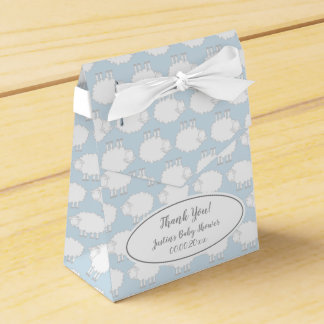 Cute sheep pattern baby shower party favor boxes