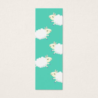 Cute sheep repeating pattern mini business card