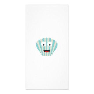 Cute Shell Custom Photo Card