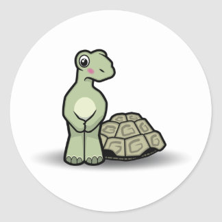 Cute Shell-less Cartoon Tortoise Sticker