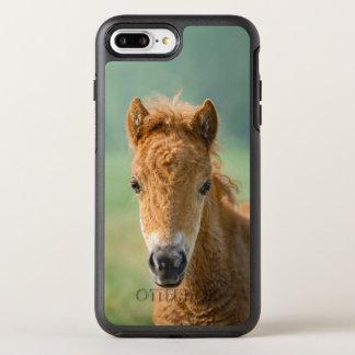 Cute Shetland Pony Foal Horse Head Frontal Photo . OtterBox Symmetry iPhone 8 Plus/7 Plus Case