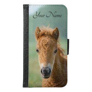 Cute Shetland Pony Foal Horse Head Photo / Name - Samsung Galaxy S6 Wallet Case