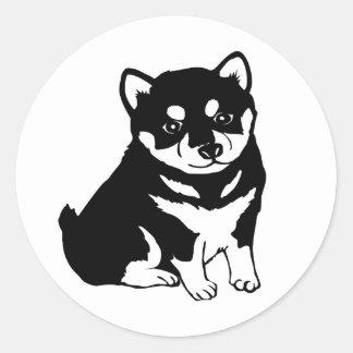 Cute Shiba Inu Puppy Dog Silhouette Stickers
