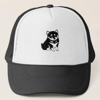 Cute Shiba Inu Puppy Dog Silhouette T-Shirt Trucker Hat