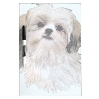 Cute Shih Tzu Art Dry Erase Board