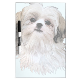 Cute Shih Tzu Art Dry-Erase Whiteboard
