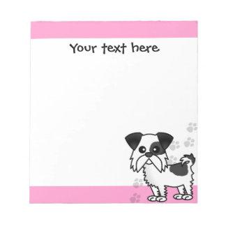 Cute Shih Tzu Black and White  - Pink Notepad