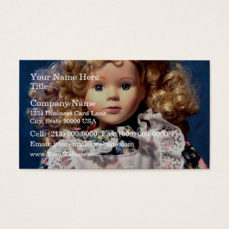 Cute Shirley Temple Doll Business Card