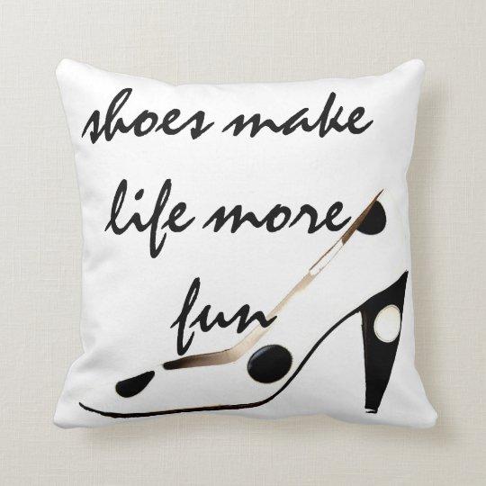 Cute Shoes Decor Throw Pillow