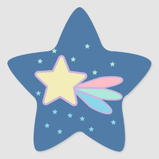 Cute Shooting Star Comet Star Sticker