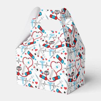 Cute Shot Needles Nurse | Doctor EKG Pattern Favor Box