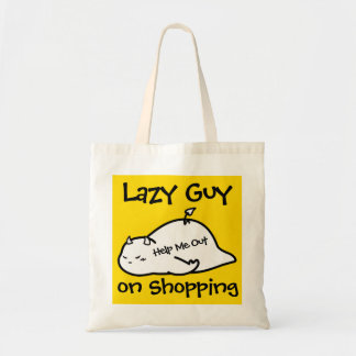 Cute Shy Devil as Lazy Guy Tote Bag