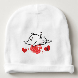Cute Shy Devil Happy Flight Baby Beanie