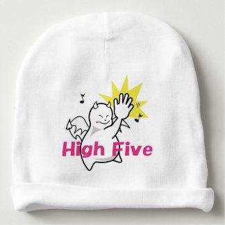Cute Shy Devil High Five Baby Beanie