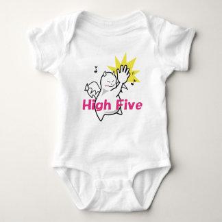 Cute Shy Devil High Five Baby Bodysuit