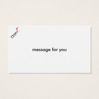 Cute Shy Devil in LOVE Business Card