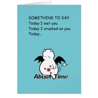 Cute Shy Devil in LOVE Card