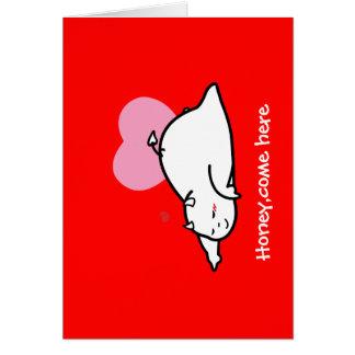 Cute Shy Devil in LOVE... Card