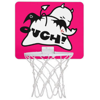 Cute Shy Devil in LOVE Mini Basketball Backboard