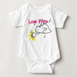 Cute Shy Devil Low Five Baby Bodysuit