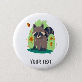 Cute Shy raccoon 2 Inch Round Button