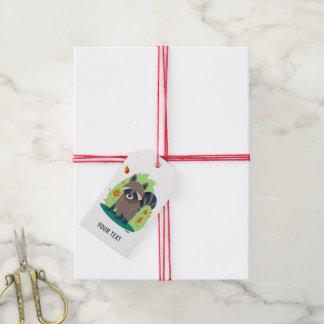Cute Shy raccoon Gift Tags
