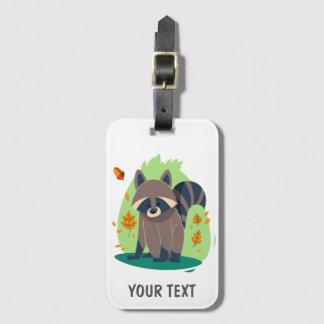 Cute Shy raccoon Luggage Tag