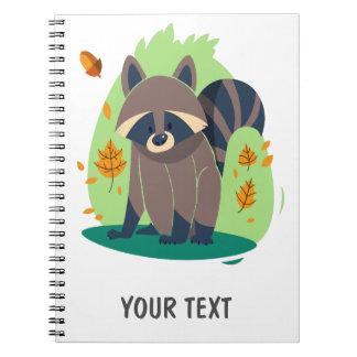Cute Shy raccoon Note Book