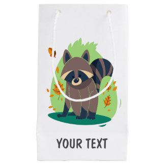 Cute Shy raccoon Small Gift Bag