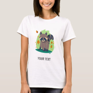 Cute Shy raccoon T-Shirt