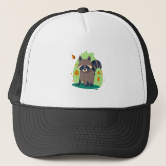Cute Shy raccoon Trucker Hat