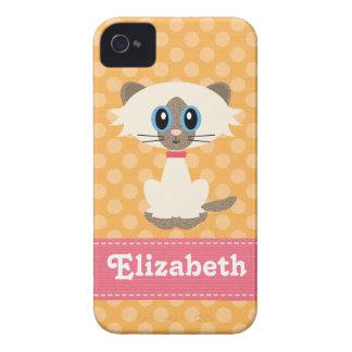 Cute Siamese Cat iPhone 4 / 4s Case-Mate Barely Th