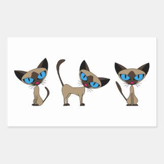 Cute Siamese Cat - Times Three