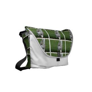 Cute Siberian Husky Messenger Bag