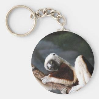 Cute Sifaka Lemur Keychain