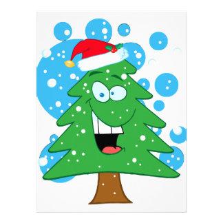 cute silly cartoon christmas tree character invite