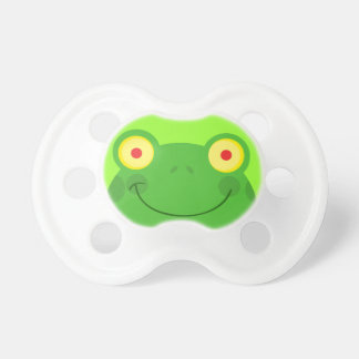 cute silly froggy frog face cartoon character pacifier