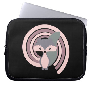 Cute silver baby fox laptop sleeve