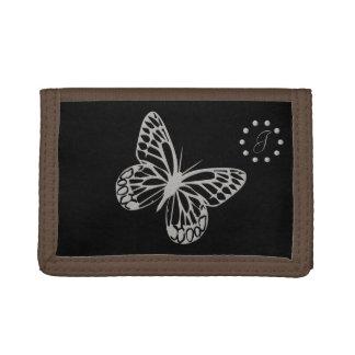 Cute Silver Butterfly Monogrammed Wallet