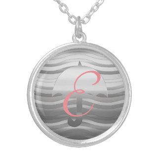 Cute Silver Umbrella Necklace