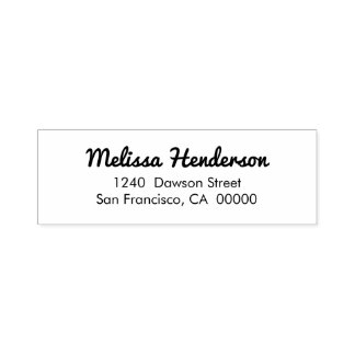 Cute Simple Handwritten Return Address Self-inking Stamp