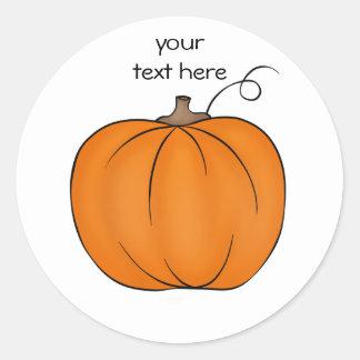 Cute simple pumpkin classic round sticker