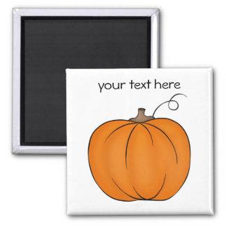 Cute simple pumpkin magnet