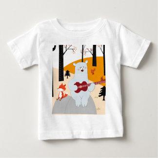 Cute sing a summer song fox wolf and teddy bear baby T-Shirt