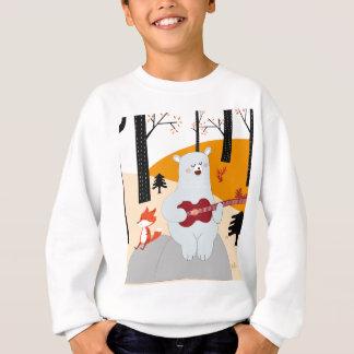 Cute sing a summer song fox wolf and teddy bear sweatshirt