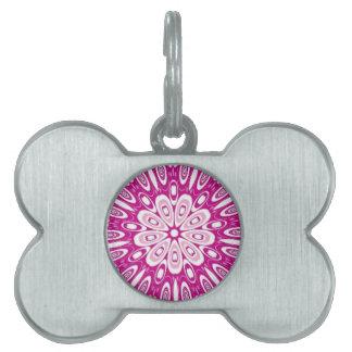 Cute Sissy Girl Retro Pink Circles Kaleidoscope Pet Tags