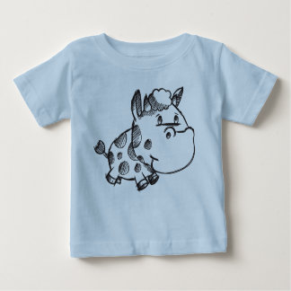 Cute Sketch Doodle Baby Cow shirt