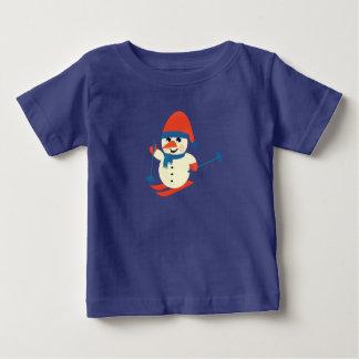 Cute Skiing Snowman, Toddler's Novelty T-Shirt