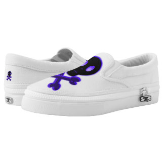 Cute Skull and Crossbones Slip-On Sneakers